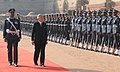 The Emperor of Japan, His Majesty Akihito inspecting the Guard of Honour, at the Ceremonial Reception, at Rashtrapati Bhavan, in New Delhi on December 02, 2013.jpg