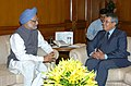 The Foreign Minister of Morocco, Mr. Mohamed Benaissa calls on the Prime Minister, Dr. Manmohan Singh, in New Delhi on June 26, 2006.jpg