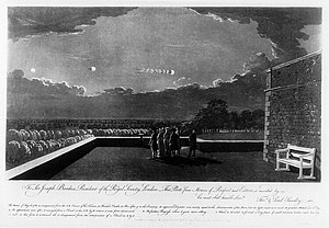 The Meteor of August 18th, 1783 as it appeared from the North East corner of the terrace at Windsor Castle.jpg