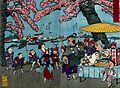 The Mukōjima embankment; a street vendor sells articles Wellcome V0047316.jpg