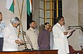 The President, Dr. A.P.J. Abdul Kalam administering the oath as Minister of State to Shri M.H. Ambareesh at a Swearing-in Ceremony at Rashtrapati Bhawan in New Delhi on October 24, 2006.jpg