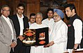The Prime Minister, Dr. Manmohan Singh releasing a music album by Sarod Maestro Ustad Amjad Ali Khan, in New Delhi on August 09, 2010.jpg
