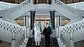 The Prime Minister, Shri Narendra Modi in tete-a-tete with the President of Turkmenistan, Mr. Gurbanguly Berdimuhamedov, at Oguzkhan Palace, in Ashgabat, Turkmenistan on July 11, 2015.jpg