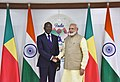 The Prime Minister, Shri Narendra Modi meeting the President of Benin, Mr. Patrice Talon, on the sidelines of the 52nd African Development Bank Annual meeting, in Gandhinagar, Gujarat on May 23, 2017.jpg