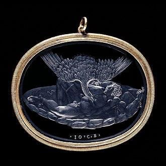 Giovanni Bernardi - The Punishment of Tityos, rock crystal intaglio by Giovanni Bernardi, the British Museum