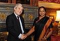 The Speaker, Lok Sabha, Smt. Meira Kumar being received by the Speaker of the House of Commons, UK, Mr. John Bercow, in London on January 18, 2011.jpg