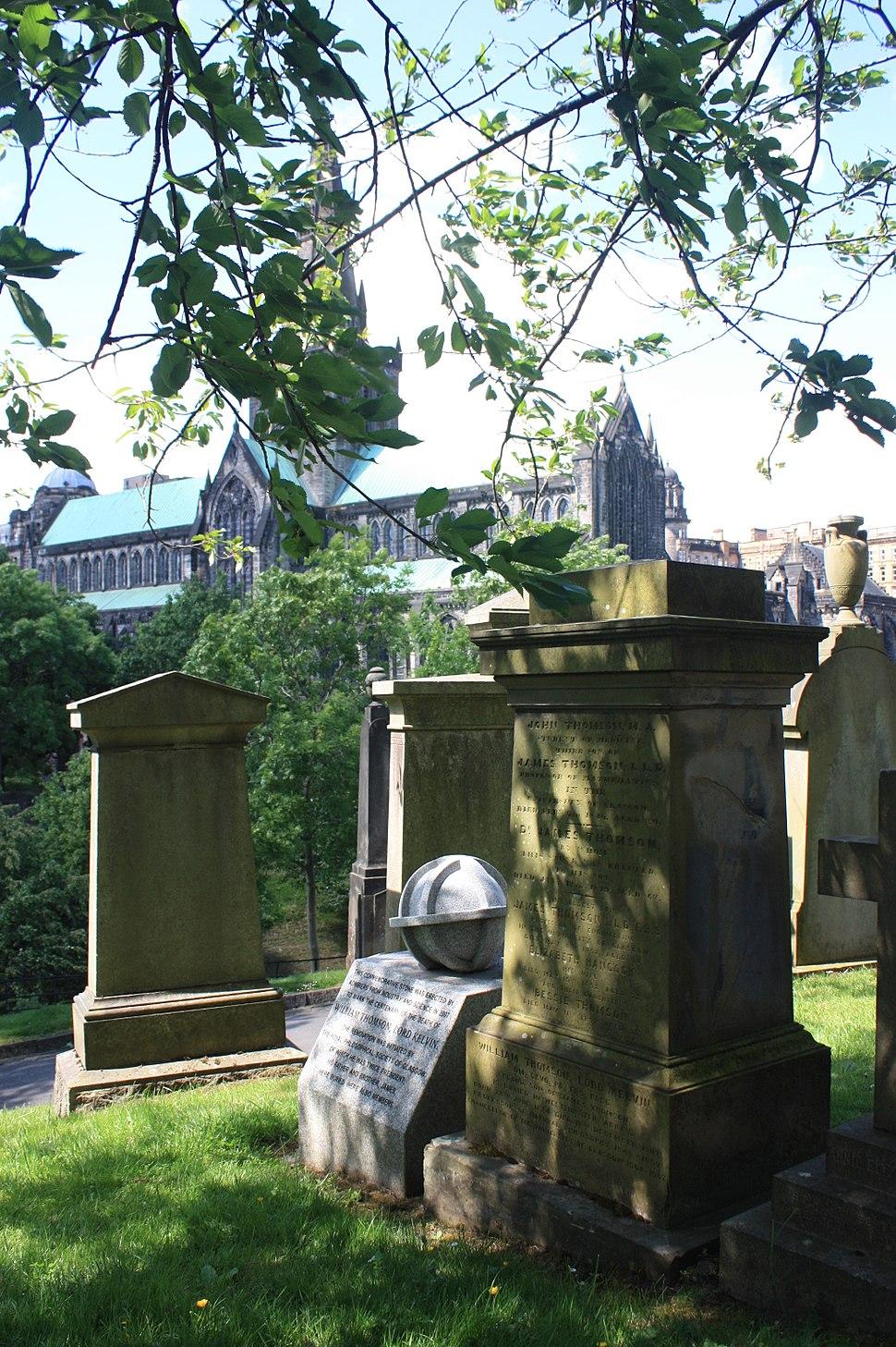 The Thomson family grave and memorial, Glasgow Necropolis