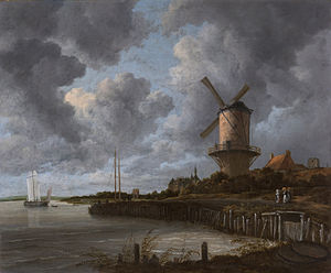 1670 in art - Ruisdael – The windmill at Wijk