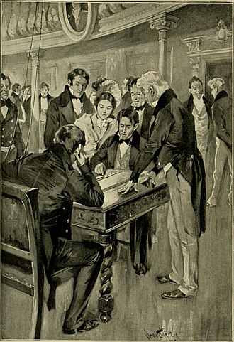 Baltimore–Washington telegraph line - The first telegram. Professor Samuel Morse sending the dispatch as dictated by Miss Annie Ellsworth