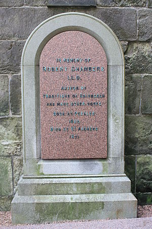 Robert Chambers (publisher, born 1802) - The grave of Robert Chambers, St Andrews Cathedral churchyard