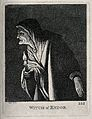 The witch of Endor with a candle. Engraving by J. Kay, 1805, Wellcome V0025881.jpg