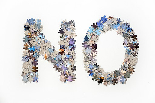 The word no made from jigsaw puzzle pieces - Flickr horiavarlan