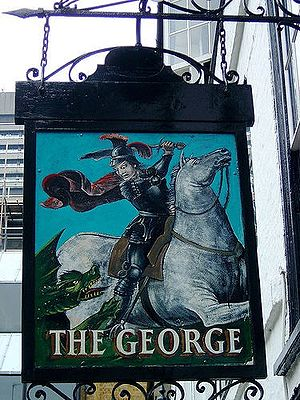 Pub Sign, The George Public House, Southwark, ...