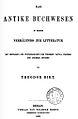 Theodor Birt, Buchwesen, Titlepage.jpg