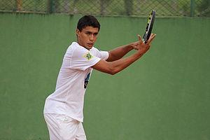 Thiago Monteiro (tennis) - Thiago Monteiro training in 2013