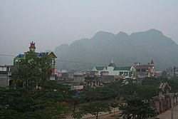 Bang Lung town in the morning mist