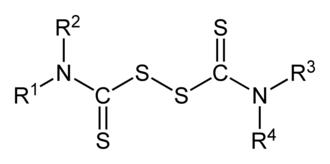 Thiuram disulfide - General structure of a thiuram disulfide