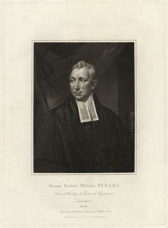 Thomas Dunham Whitaker - Thomas Dunham Whitaker, 1816 engraving by William Holl the elder after a portrait by James Northcote.