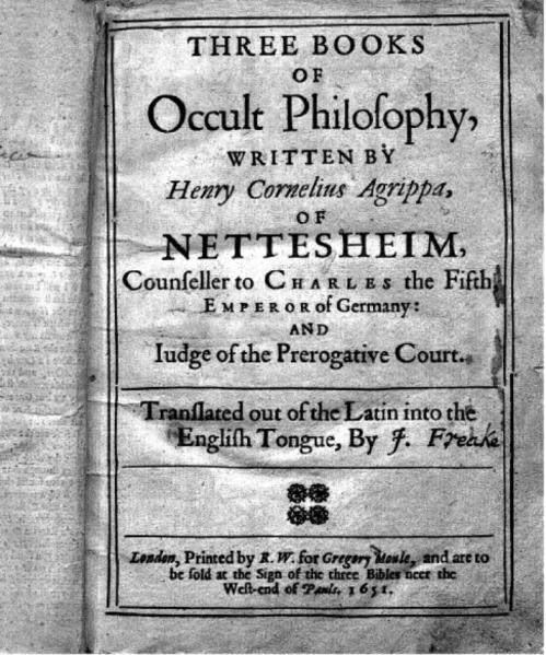 File:Three Books of Occult Philosophy (De Occulta Philosophia) (1651).djvu