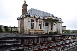 Wick and Lybster Light Railway - Remains of Thrumster railway station