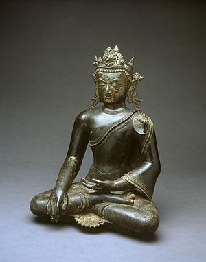 "Shakya - Gautama Buddha, called Shakyamuni ""sage of the Shakyas"", the most famous Shakya. Seated bronze from Tibet, 11th century."