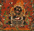 Tibetan thangka from AD 1500, Mahakala, Protector of the Tent, Central Tibet. Distemper on cloth- (cropped).jpg