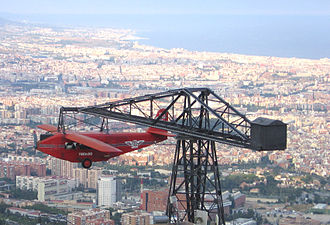 Tibidabo - The Red Aeroplane of Tibidabo