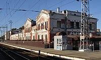Tikhoretsk railway station vokzal from rails.jpg