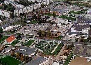 Tiszaújváros - Image: Tiszaújváros légifotó2