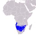 Tockus leucomelas - Distribution.png