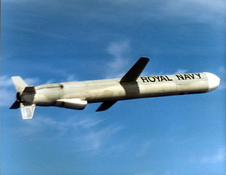 Active Royal Navy weapon systems - A Royal Navy Tomahawk Land Attack Cruise Missile