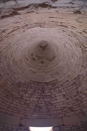 Tomb of Clytemnestra - The roof of the burial chamber.