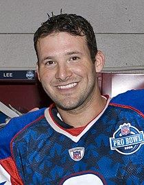 Tony Romo before 2008 Pro Bowl (cropped).JPEG