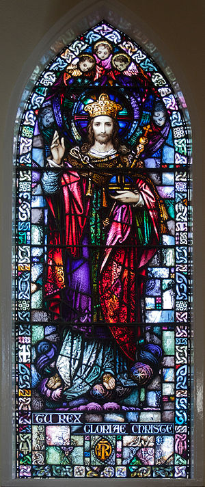 Christ the King - Stained glass window of Christ the King, Tipperary, Ireland