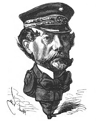Louis Pierre Alexis Pothau - Admiral Pothuau by André Gill – 1873, from Le Trombinoscope of Touchatout.