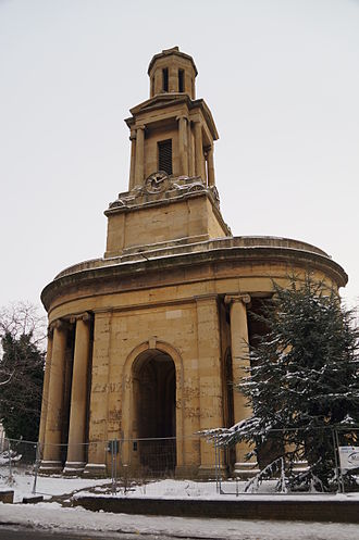 St Thomas' Peace Garden - The remaining tower as part of the Peace Garden