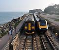 Trains passing at Dawlish Warren.jpg