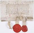 Traité d'alliance entre la Reine Isabeau de Bavière, Jean duc de Berry et Louis duc d'Orléans - Archives Nationales - AE-II-426.jpg