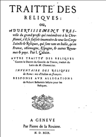 Treatise on Relics - Wikipedia