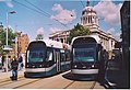 Trams on the Old Market Square, Nottingham. - geograph.org.uk - 128642.jpg