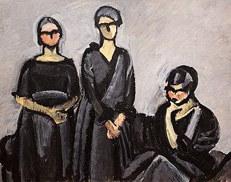 Harald Giersing - Image: Tre damer i sort