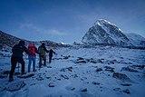 Trekkers on the way towards kalapatthar, mt Pumori standing tall infront.jpg