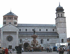 Piazza Duomo, the Cathedral (12th-13th Century) and the fountain of the Neptune.