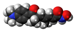 Space-filling model of the trichostatin A molecule