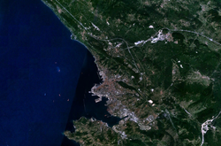 Satellitenbild von Triest