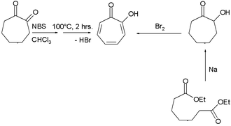 Tropone - Tropolone synthesis