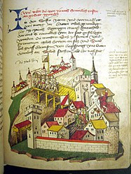 The night of the murder of Zurich in the Tschachtlan chronicle of 1470
