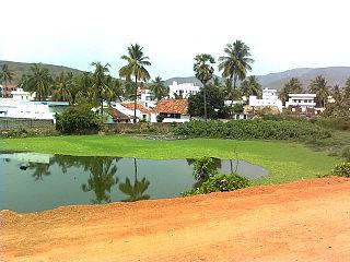 Tuni Town in Andhra Pradesh, India