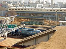 Turntable on Koriyama station Fukushima 20100125.jpg