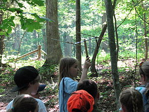 Haw River State Park - A girl learns how to track a radio tagged turtle.